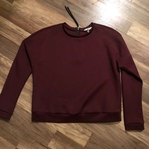 BCBGeneration Maroon Long Sleeve Blouse